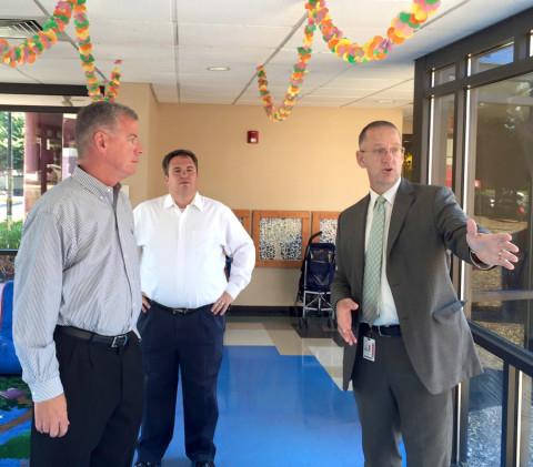 Sen. McGarrigle takes a tour of the CYEDC
