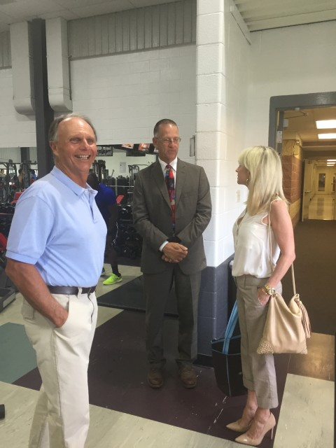 House Appropriations Chair, State Representative Bill Adolph, visits the Ridley Area YMCA with Chief of Staff, Jeannie Smyth, who also serves as a Community Y board member