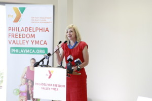 Yael Lehmann, Executive Director of The Food Trust speaks about the partnership between her organization and the YMCA.