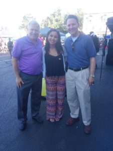 (L to R) David John, State Alliance Executive Director, Calli Umipig, State Alliance Intern and Sen. Rob Teplitz