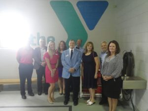 State Rep. Paul Schemel joins other local elected officials in a tour at the Waynesboro Area YMCA