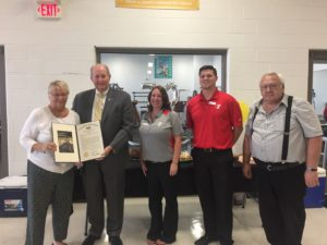 Kim Johnson, President and CEO of the YMCA of Reading and Berks County, received a House Citation from State Representative Barry Jozwiak (R-Berks) in recognition of the 70th anniversary of the Tri-Valley Y.