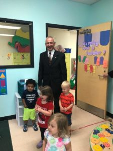 PA State Rep. Sid Michaels Kavulich visits with kids at the Greater Scranton YMCA.
