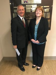 PA State Rep. Sid Michaels Kavulich (left) and Greater Scranton YMCA CEO Trish Fisher (right) pose for a photo during the GSY Advocacy Event.