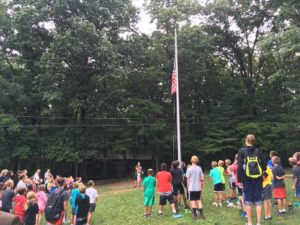 Advocacy Week continued with a visit to Camp Spirit, a summer camp location of the YMCA of York and York County. The Advocacy Event began with a flag ceremony led by some of the campers.