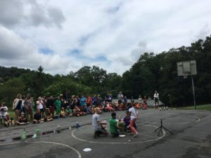 To conclude the event, campers used rubber bands to make a watermelon explode and dropped Mentos and rock salt into various types of soda. The experiments were part of Science Week. Each week, the camp has a different themes that determines what activities the campers get to experience.